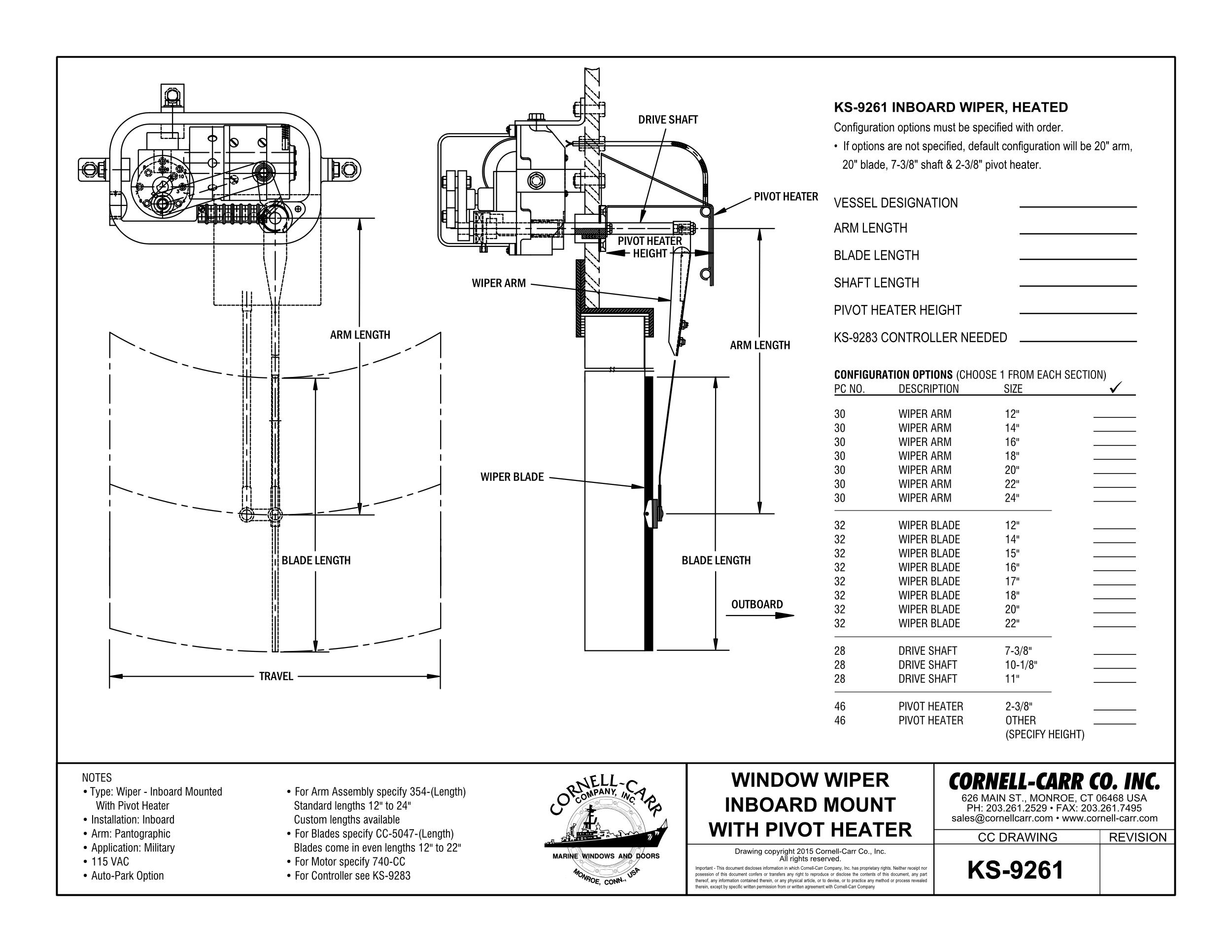KS-9261 Heated Inboard Wiper