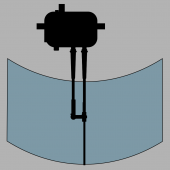 KS-65420 Commercial Outboard Wiper, Pantographic Arm